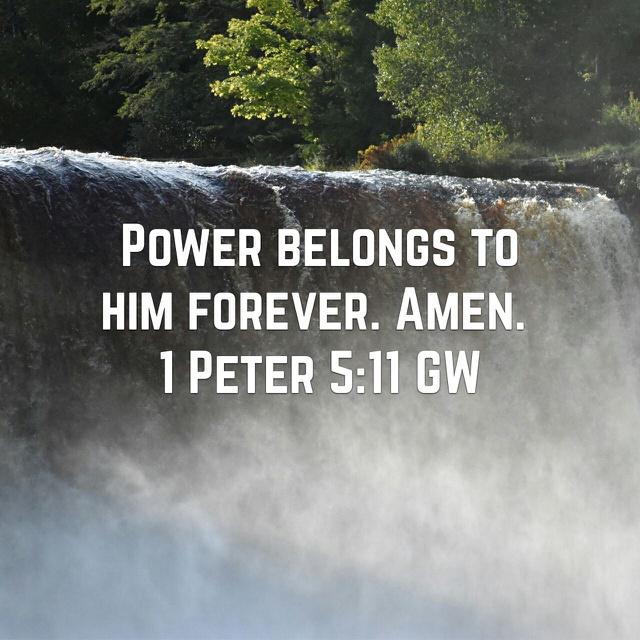 Glory to Him always